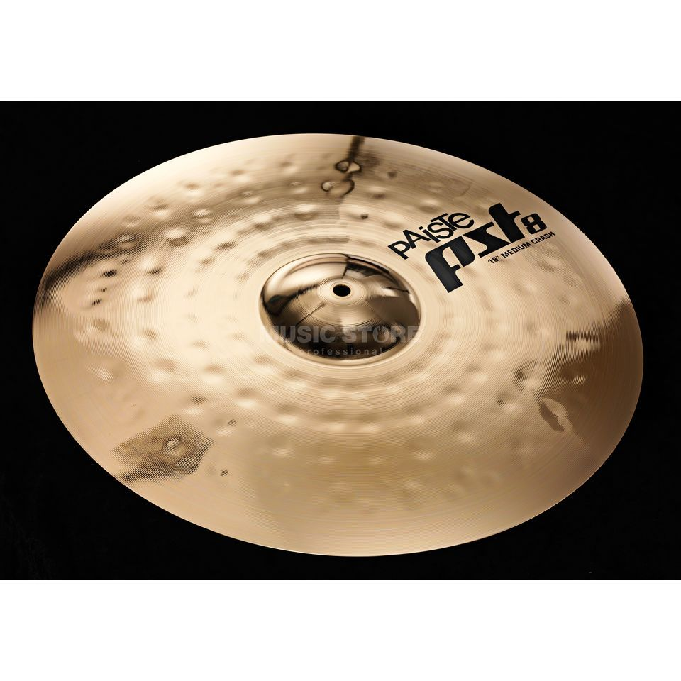 "Paiste PST8 Medium Crash 18"", Reflector Finish Produktbild"