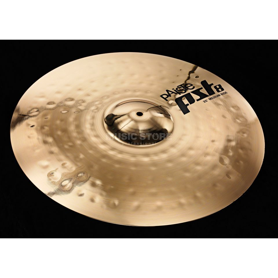 "Paiste PST8 Medium Ride 20"", Reflector Finish Produktbillede"