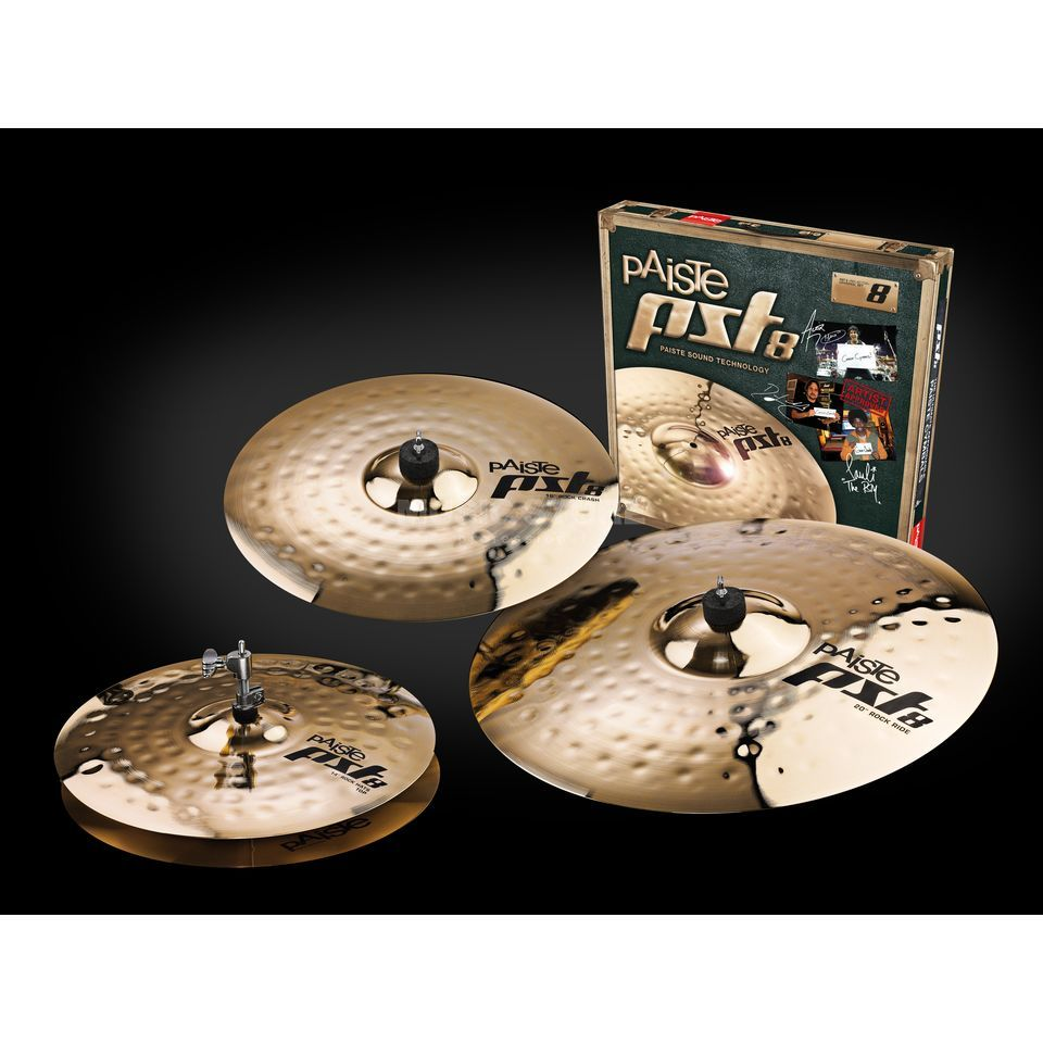 "Paiste PST8 Rock Cymbal Set, 14""HH, 16""CR, 20""R Изображение товара"