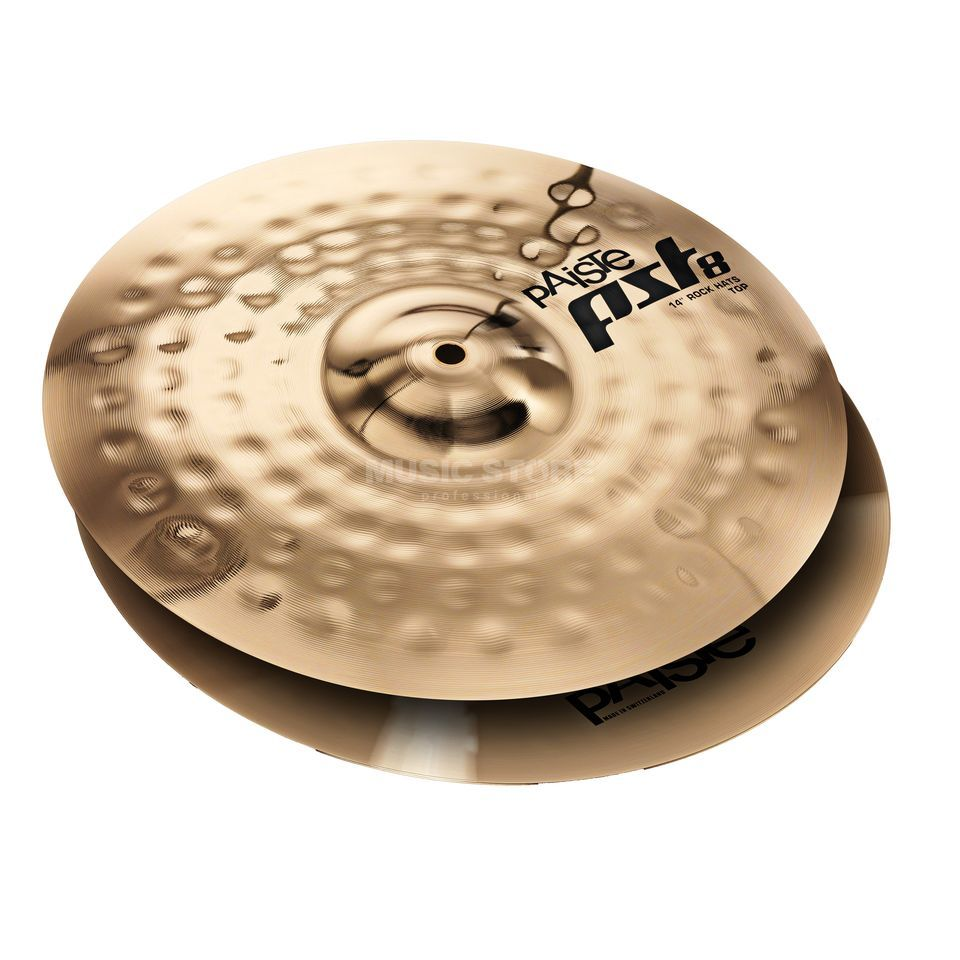 "Paiste PST8 Rock HiHat 14"", Reflector Finish Product Image"