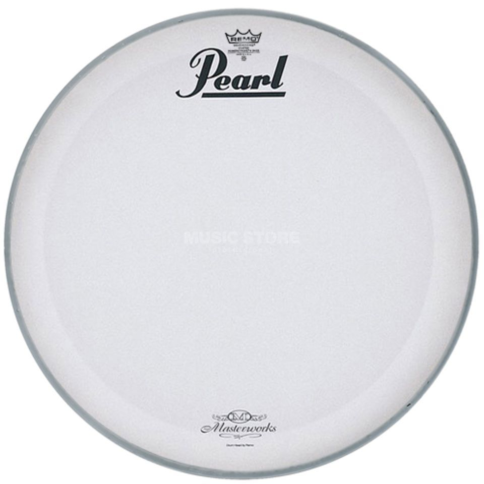 "Pearl Bass Drum Front Head MWH-20PL, 20"", white, Masterworks Logo Product Image"