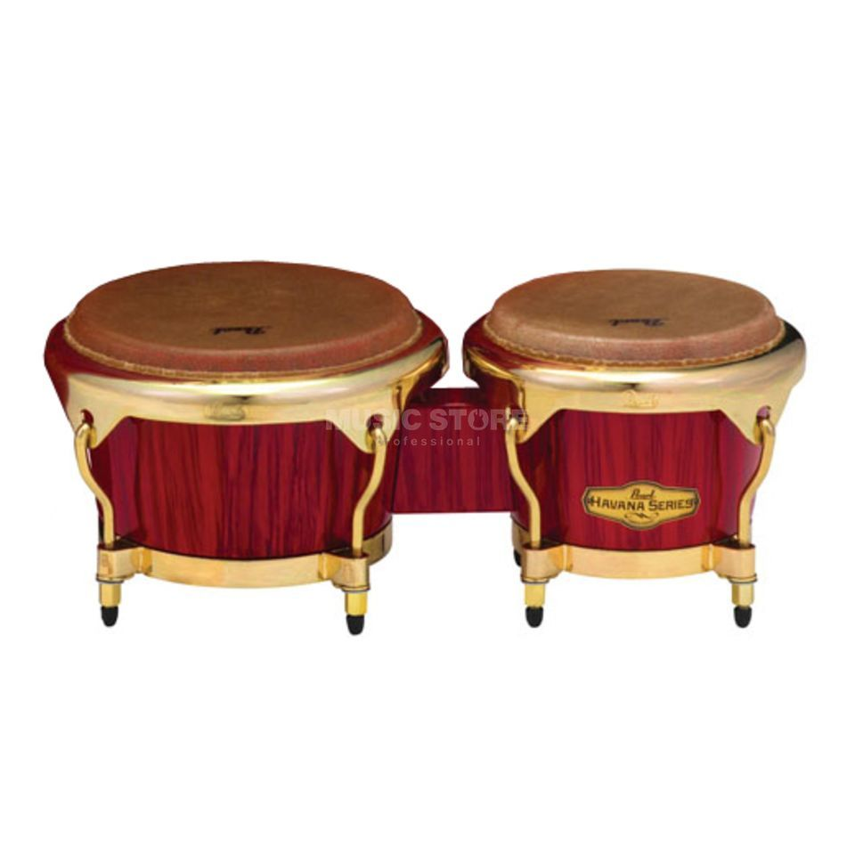 "Pearl Big Belly Havana Bongos 7""+9"", Red Tiger Stripe Imagem do produto"