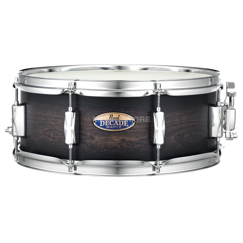"Pearl Decade Maple Snare DMP1455S/C, 14""x5,5"", Satin Black Burst Product Image"