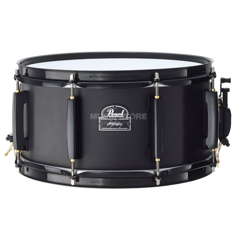 "Pearl JJ1365 Joey Jordison Snare, 13""x6,5"", Black Plated Steel Product Image"