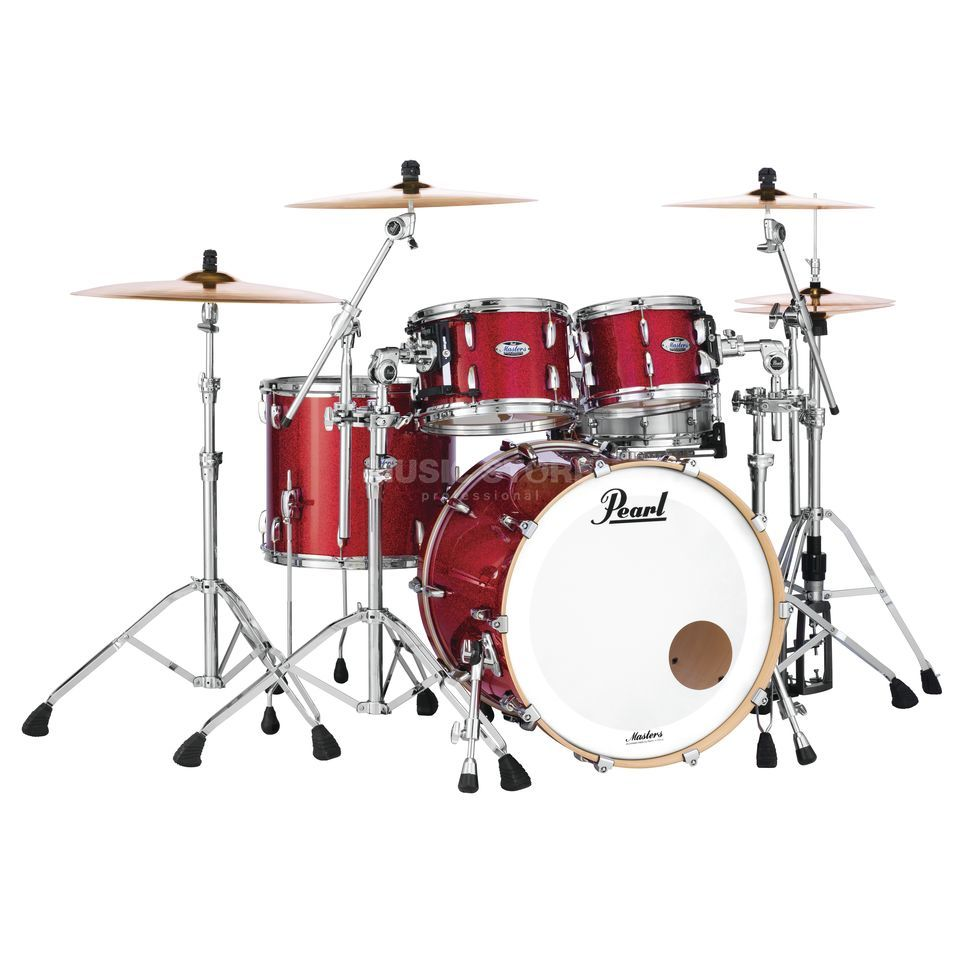 Pearl Masters Maple Complete MCT924XEFP/C  Inferno Red Sparkle Product Image