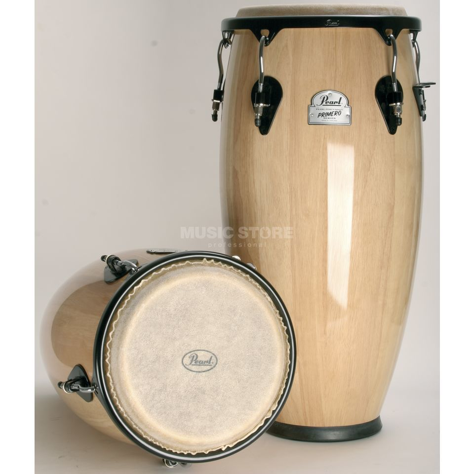 "Pearl Primero Wood Conga Set 10""+11"" PWC 201 DEAL, Natural # 511 Produktbillede"