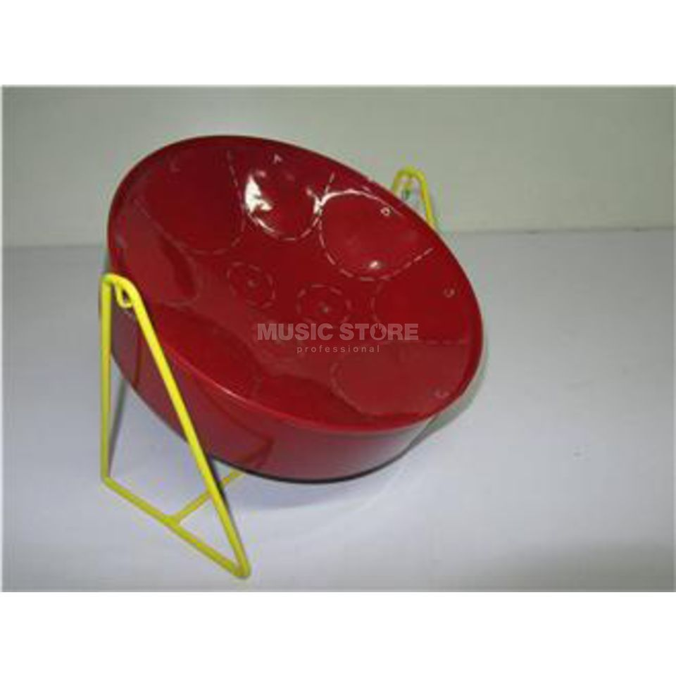 Percussion Plus PP440 Mini C Pan, rot, inkl. Beater, Stand Produktbild