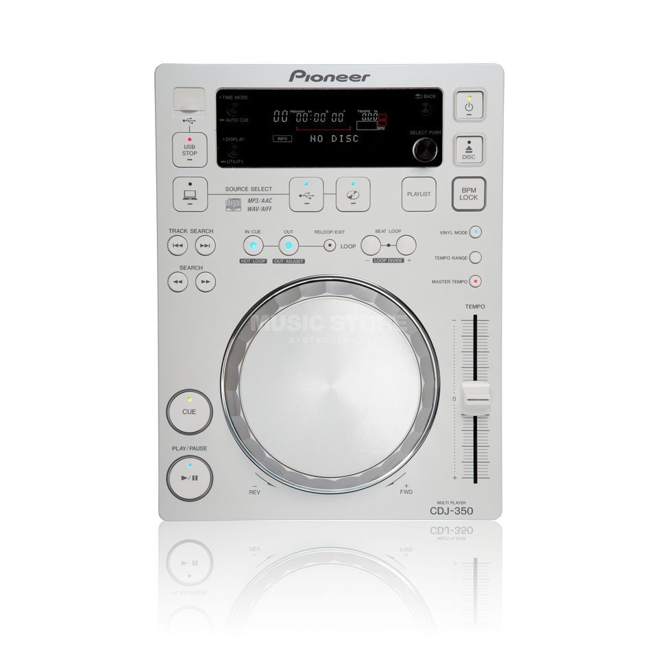 Pioneer CDJ-350-W Digital Multi-Player, white Produktbild