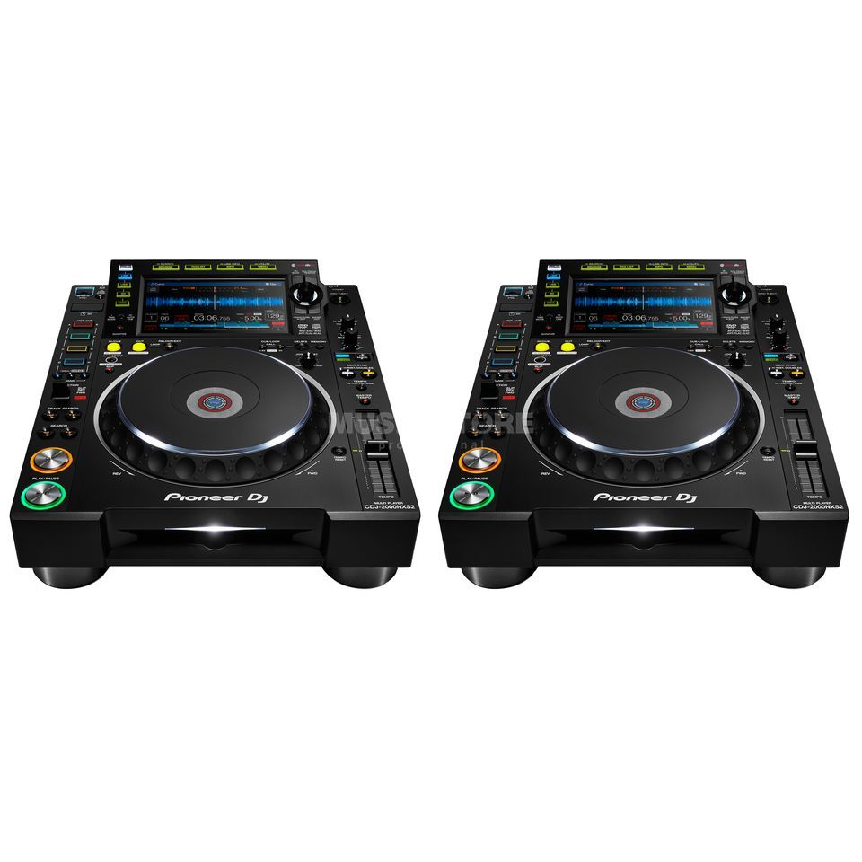 pioneer dj cdj 2000 nxs2 twin set dv247 en gb. Black Bedroom Furniture Sets. Home Design Ideas