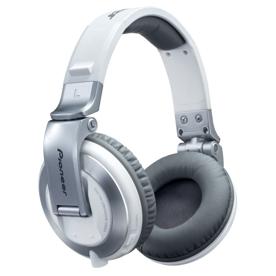 Pioneer HDJ-2000-W High-End DJ Headphones, White Изображение товара