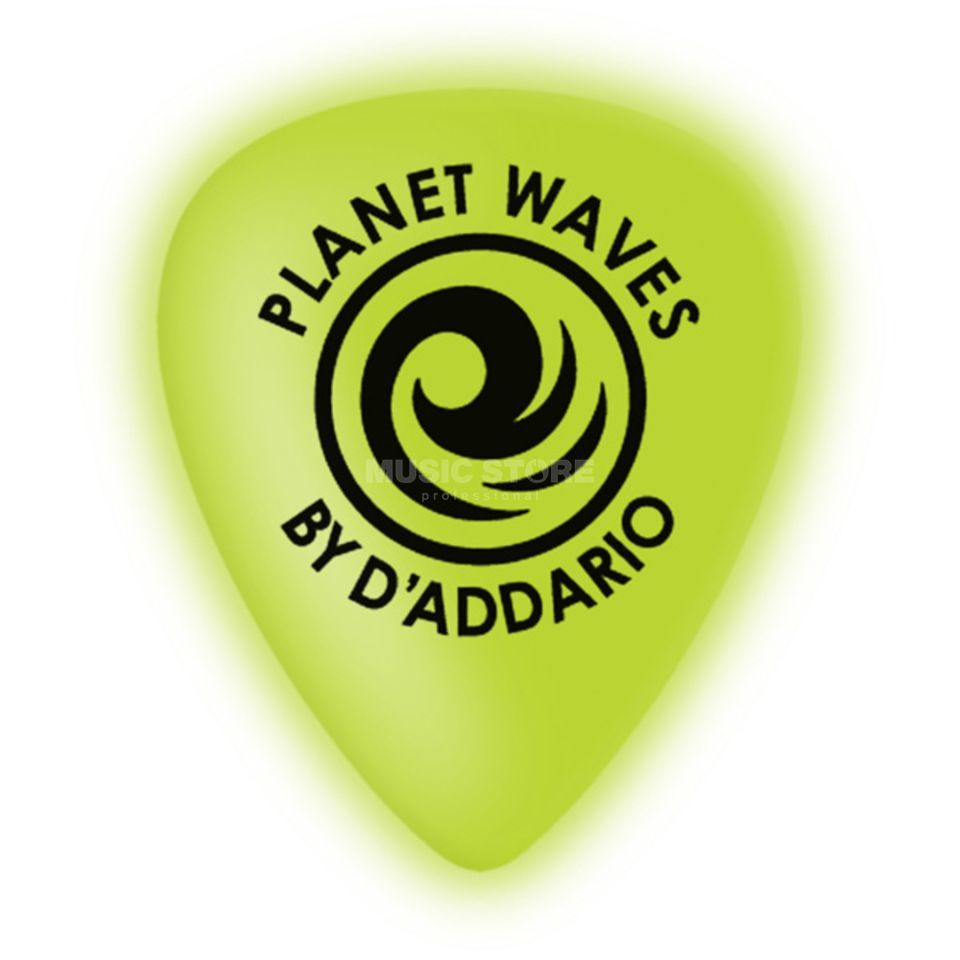 Planet Waves Cellu-Glo Picks 0,70mm medium 10-Pack, Neon Grün, 1CCG4-10 Produktbild