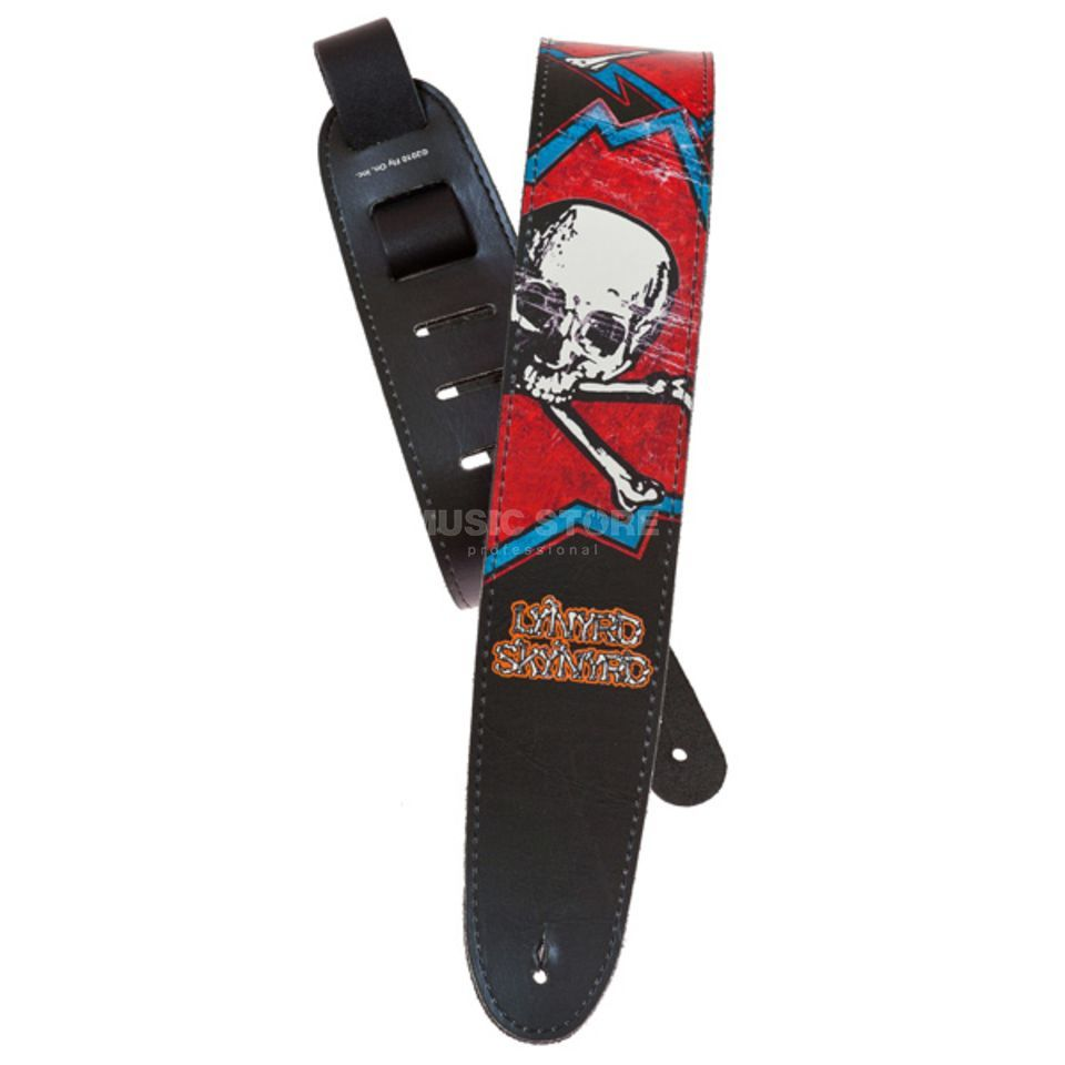 Planet Waves Guitar Strap 25LLS02 Skull Lynyrd Skynyrd Collection Produktbillede