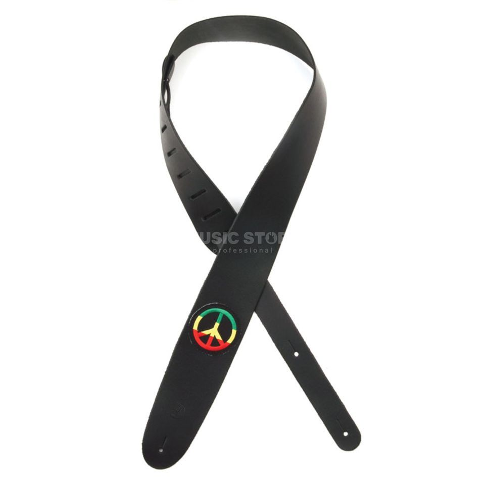 Planet Waves Guitar Strap 25PL04 Peace Sign Icon Leather Collection Produktbillede