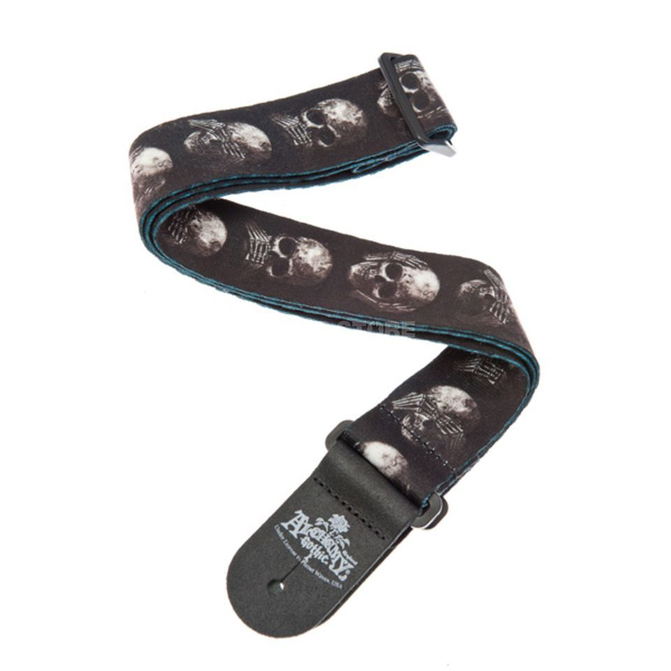 Planet Waves Guitar Strap 50AL01 Muted Skul Alchemy Gothic Collection Produktbillede
