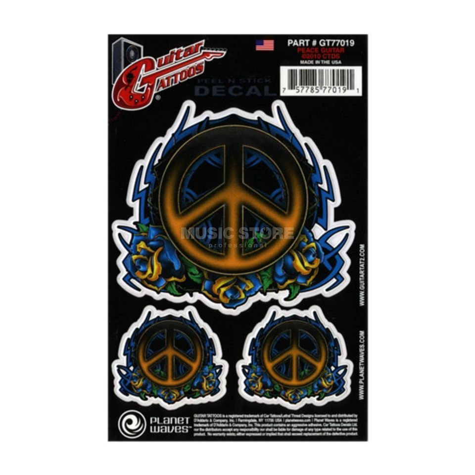 Planet Waves Guitar Tattoo - Peace Tribal GT77019 Produktbillede