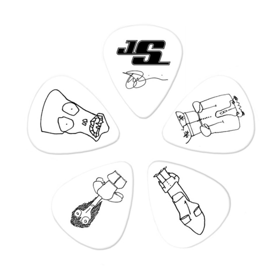 Planet Waves Joe Satriani Picks 0,71mm 10-Pack, white, 1CWH4-10JS Produktbild