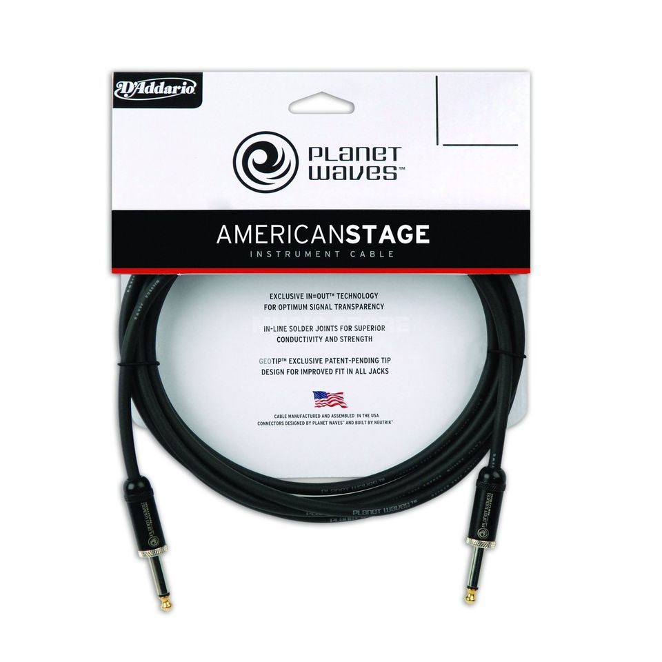 Planet Waves PW-AMSG-20 American Stage 6m Instrumentenkabel Produktbild
