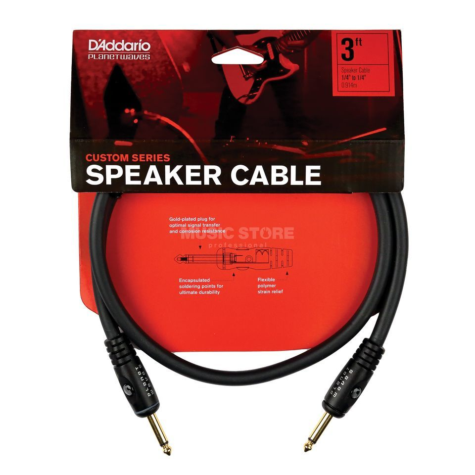 Planet Waves Speaker-Cable 1,5m Jack Custom Series,  PW-S-05 Produktbillede