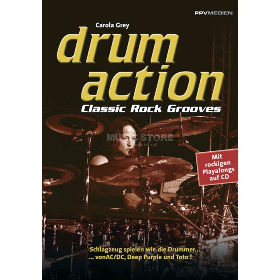 PPV Medien Drum Action - Classic Rock Grey, Buch inkl. Playalong CD Produktbild