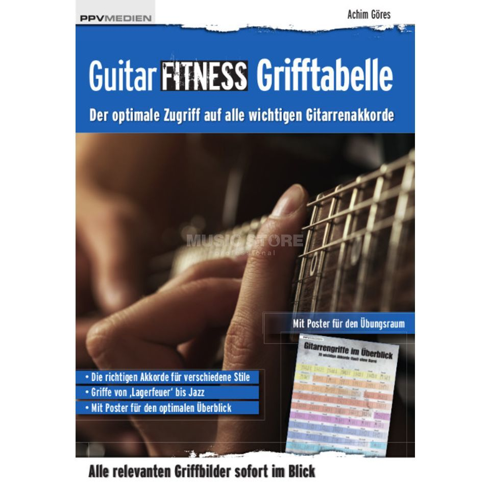 PPV Medien Guitar Fitness Grifftabelle Achim Göres Product Image