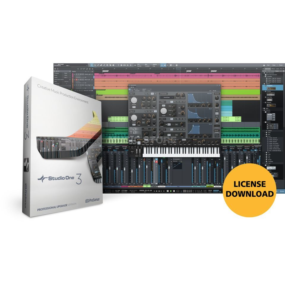 Presonus Studio One 3 PRO UP2 BOX Upgrade PRO 2 Produktbillede