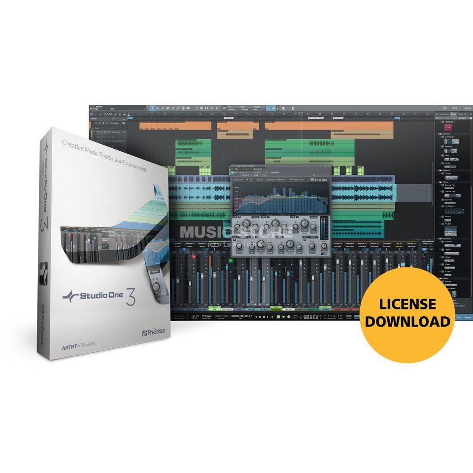 Presonus Studio One 3 Professional Upgrade von Producer 1 / 2 (Download) Produktbillede