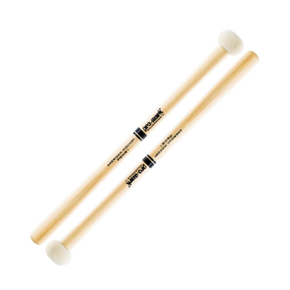 "PRO-MARK BassDrum Mallets PSMB1, Performer Series, 1-3/8"" Head Produktbillede"