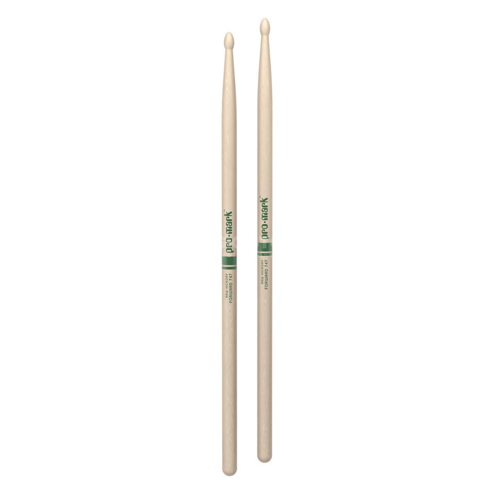 PRO-MARK TXR747W Rock Sticks, Natural American Hickory, WoodTip pair Product Image