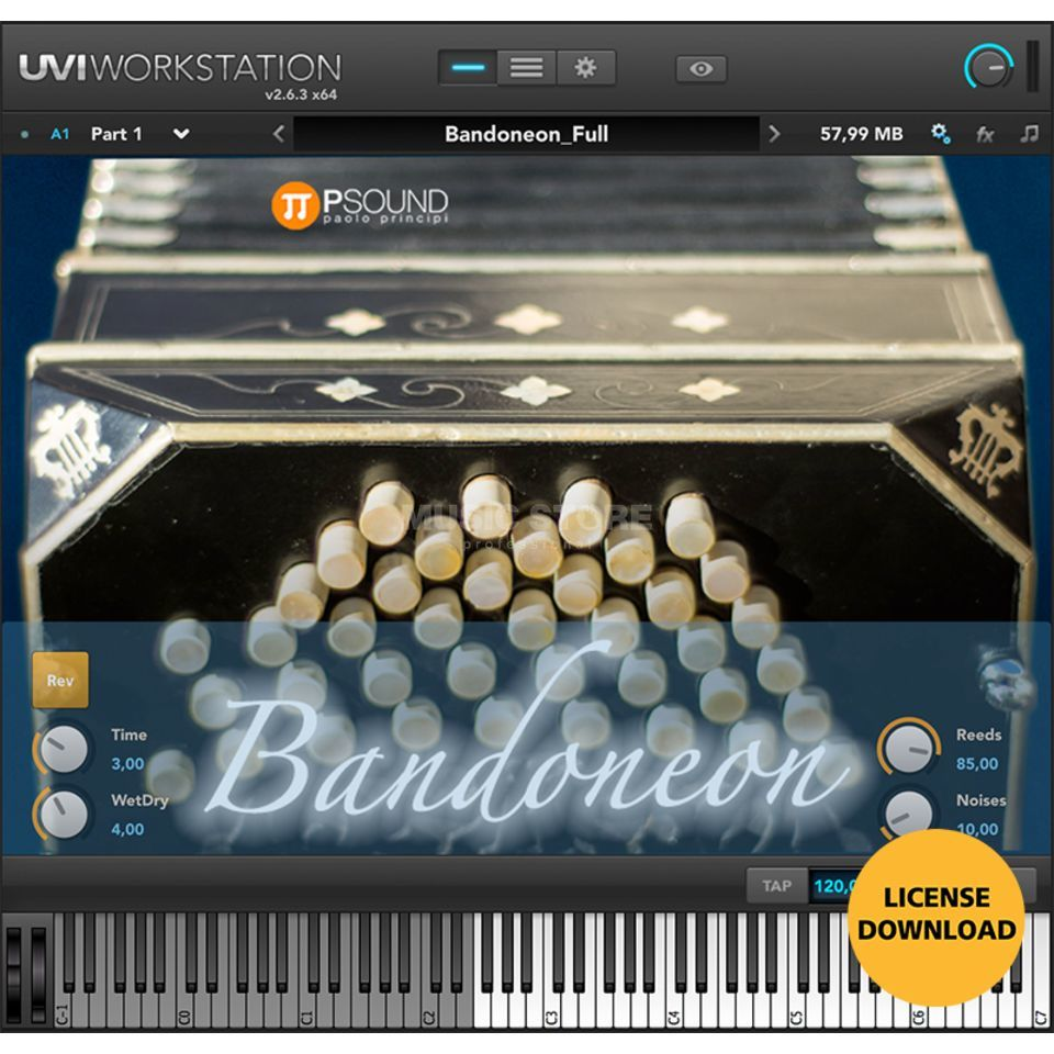 PSOUND PAOLO PRINCIPI PSOUND Bandoneon (CODE) incl UVI Worksation Produktbild