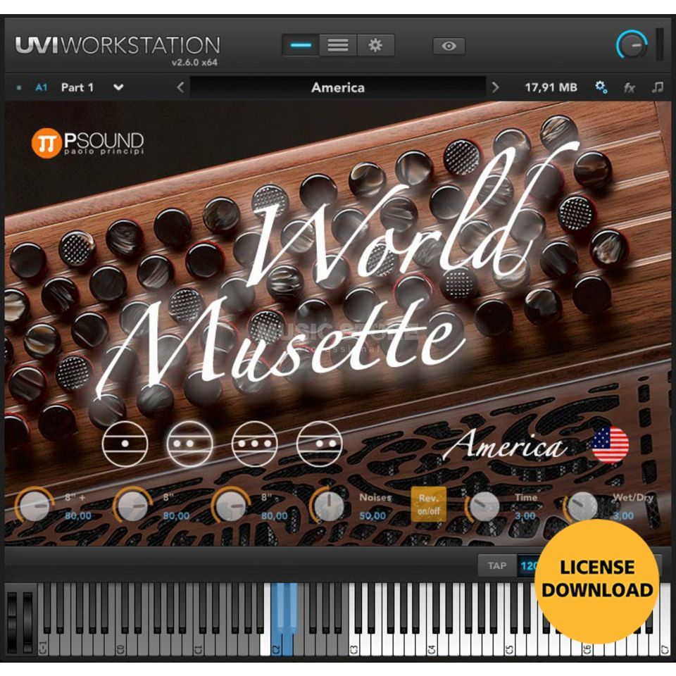 PSOUND PAOLO PRINCIPI World Musette Accordeon (CODE) incl. UVI Workstation Produktbild