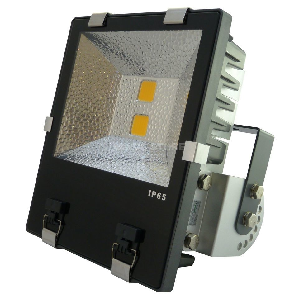 PTL LED Flood PRO 100W warm weiss IP 65, 2x 50W COB LEDs, 120° Produktbild