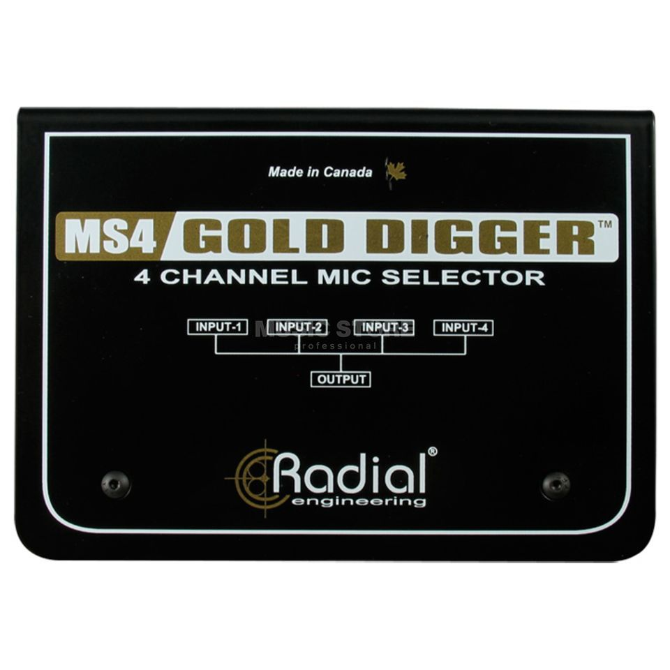 Radial Gold Digger passive Microphone Selector Produktbild