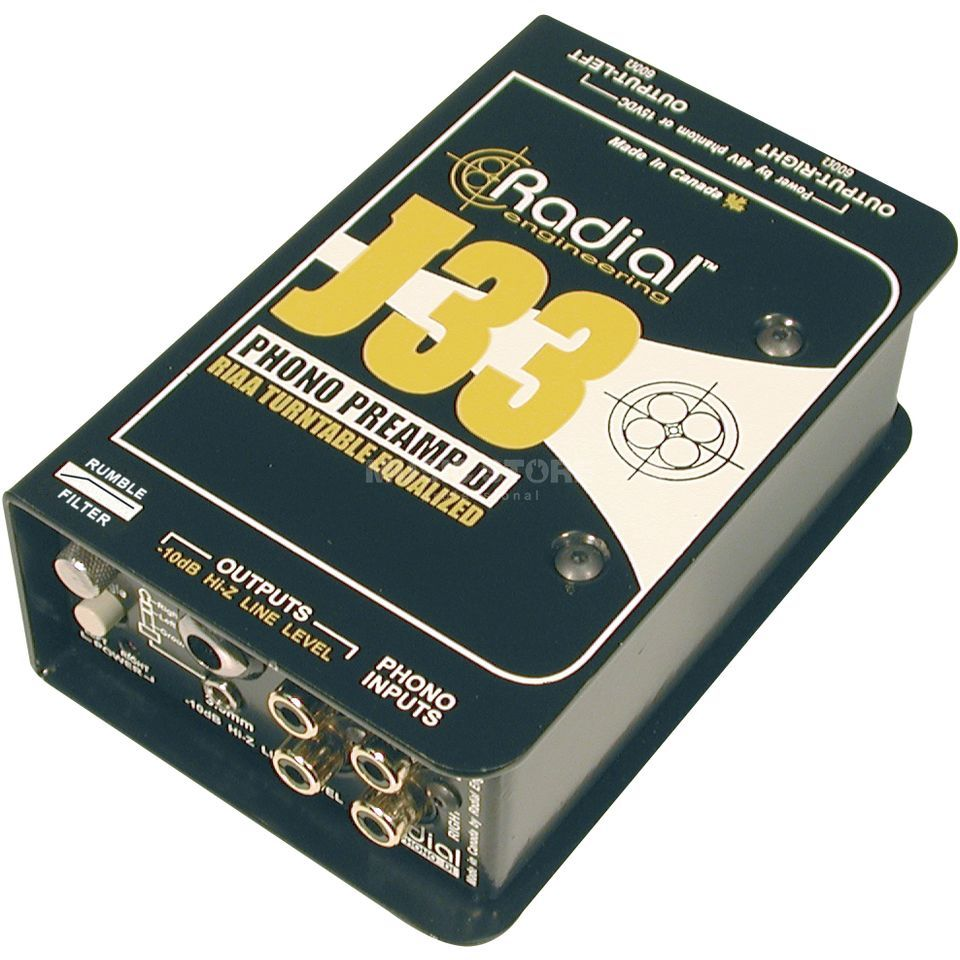 Radial J33 Turntable Pre-Amp  and Direct Box Produktbillede