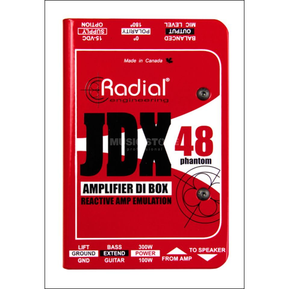 Radial JDX 48 Guitar Amp Direct Box Produktbild