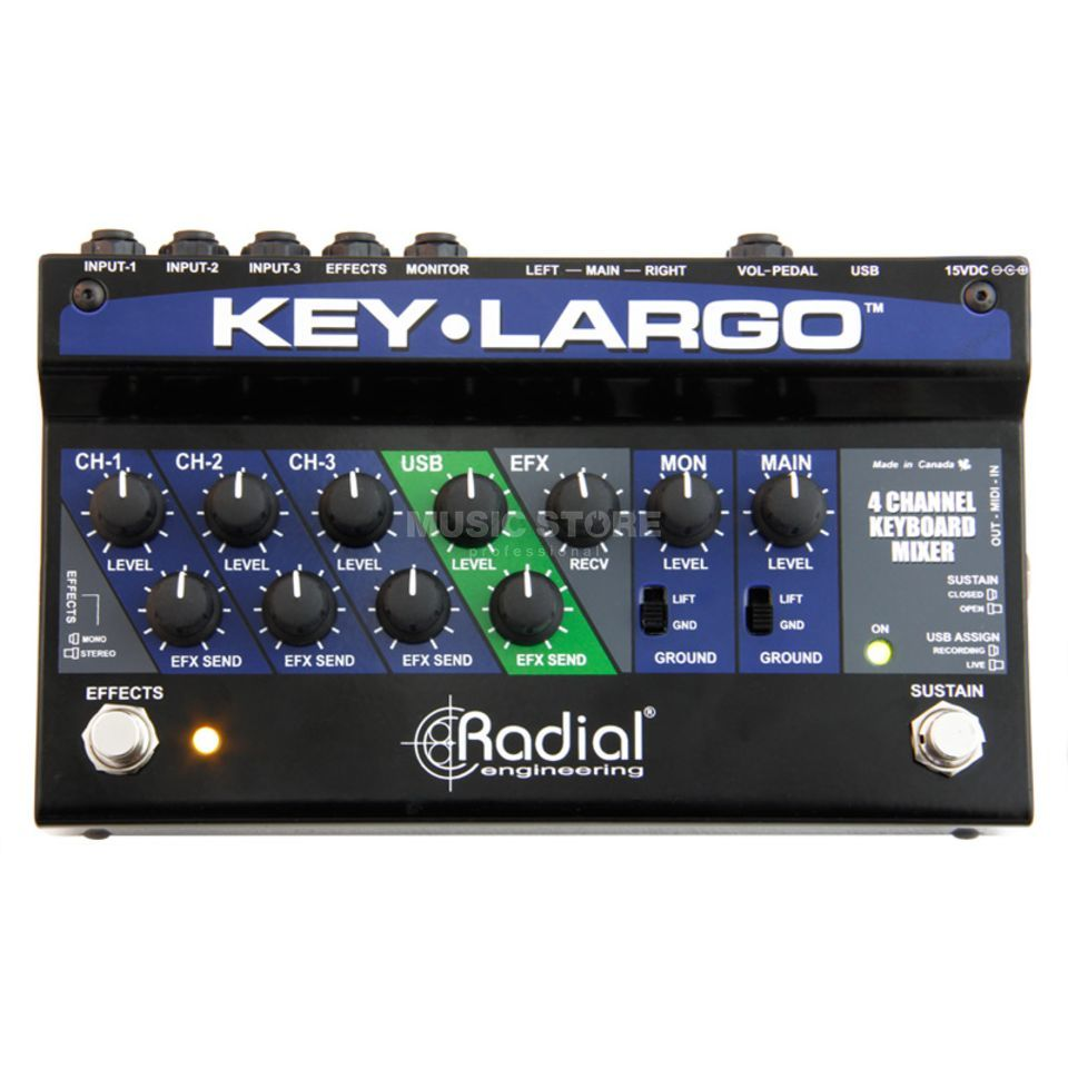 Radial Key-Largo Keyboard Mixer/Perf. Pedal Product Image