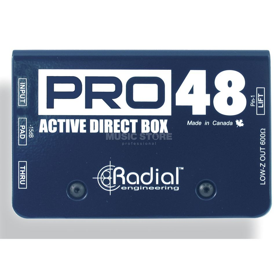 Radial Pro48 High Resolution Phantom Powered Active Direct Box   Produktbillede