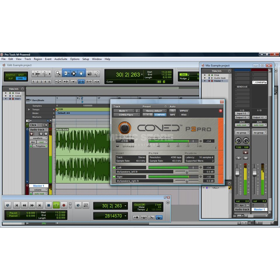 Real Sound Lab Coneq P2pro Software Equalizer RTAS+VST, 4096 TAPS/Filter.2ch Produktbillede
