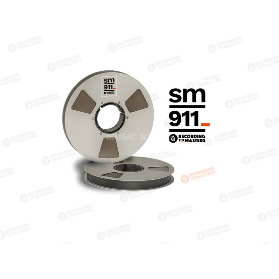 "Recording The Masters SM911 1"" 762m Analog Band NAB-Core /Metal Reel 27cm Produktbillede"