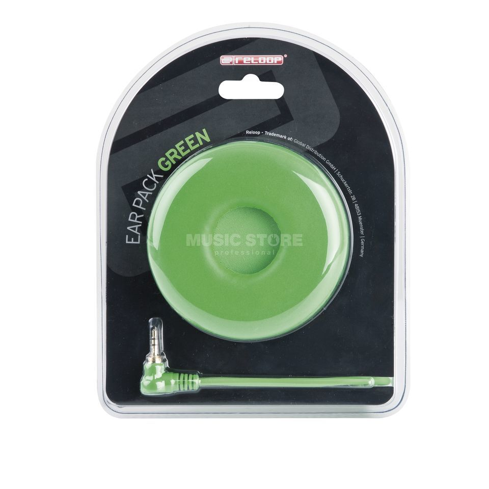 Reloop Ear Pack / cable espiral verde Imagen del producto