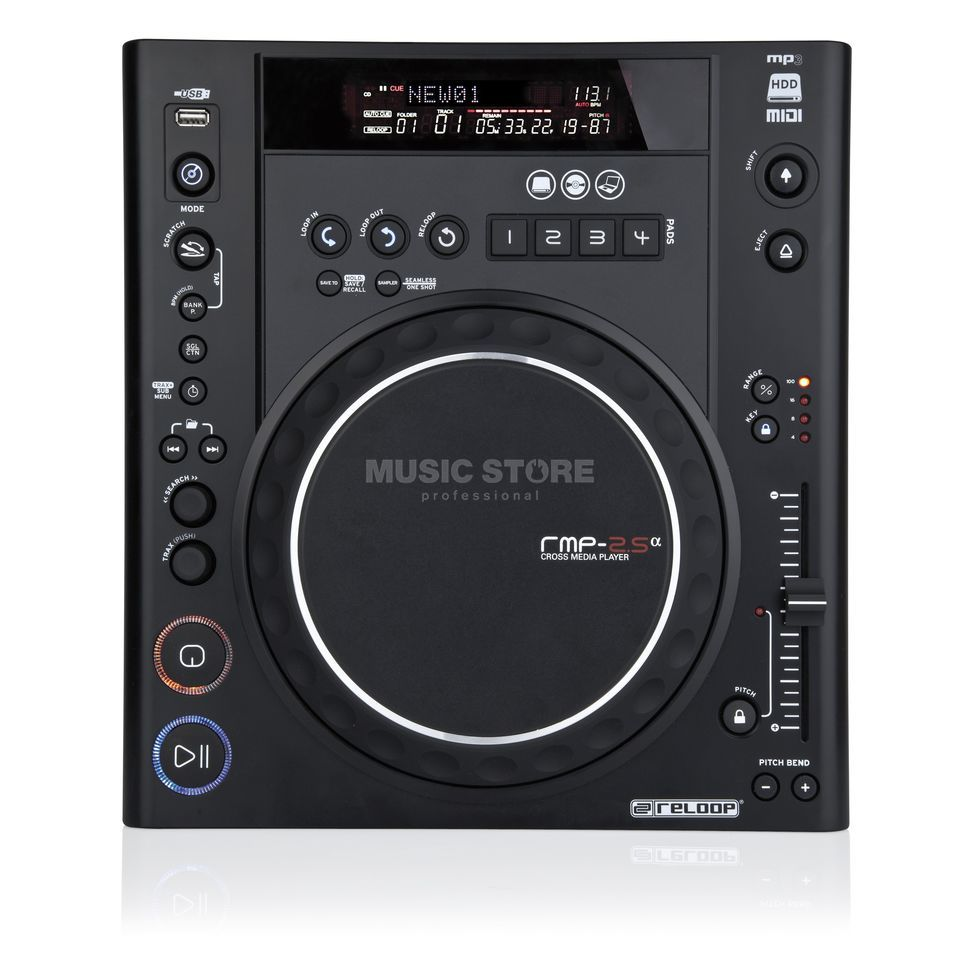 Reloop RMP-2.5 Alpha Cross Media-Player Productafbeelding