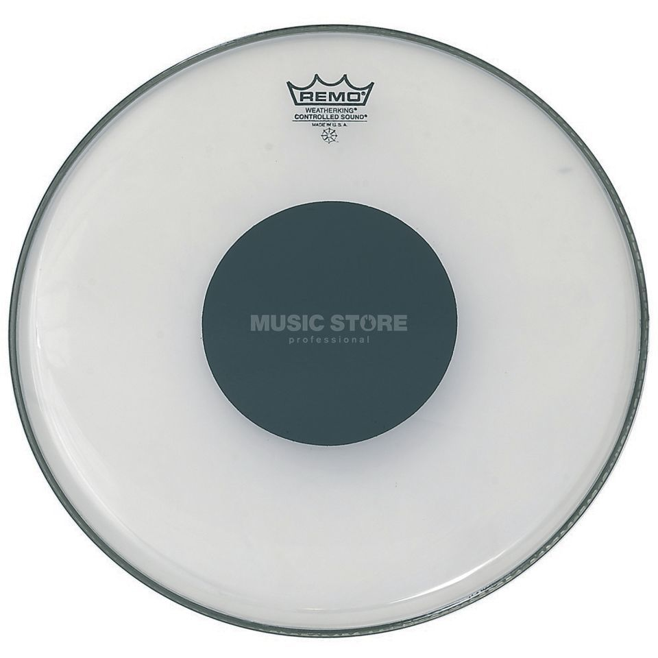 "Remo CS Ambassador Clear 16"", Black Dot, Tom Batter Produktbillede"