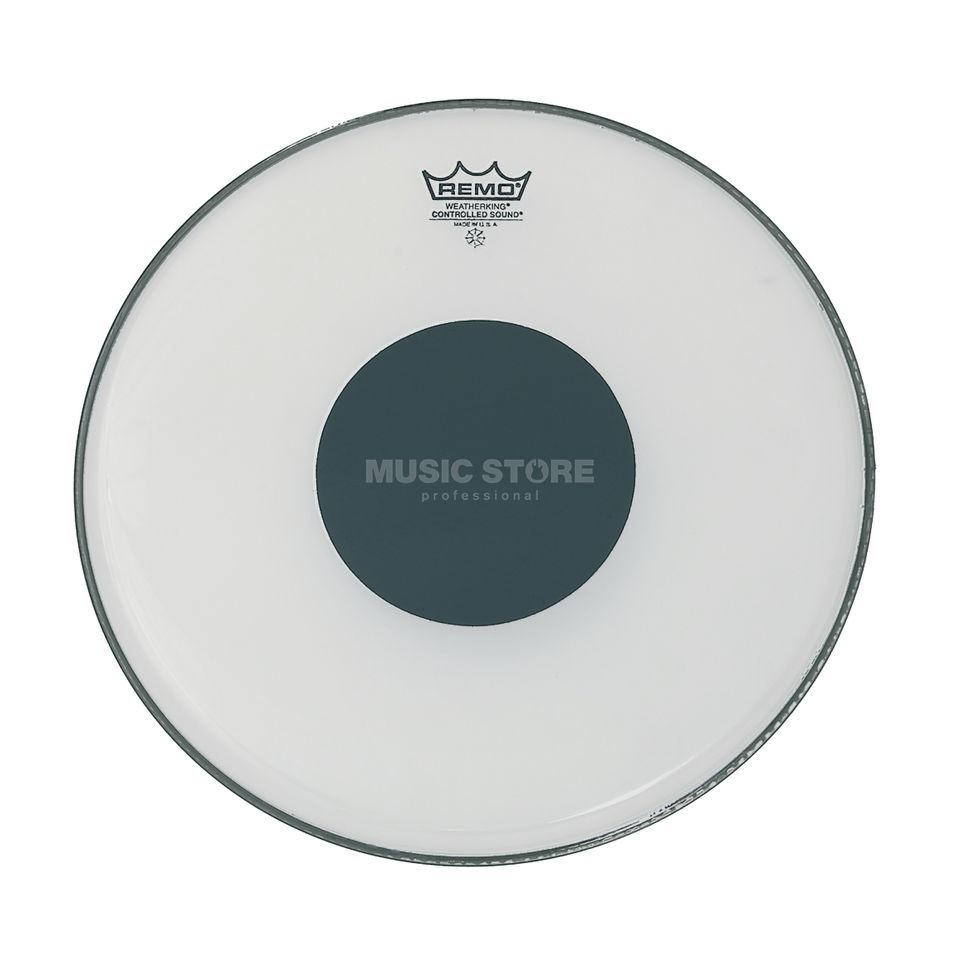 "Remo CS Ambassador White 12"", Black Dot, Tom Batter Produktbillede"