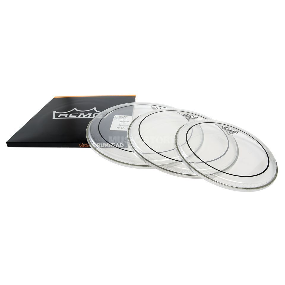 "Remo Drum Head Pack Pinstripe, Clear, Rock: 10"",12"",16"" Produktbillede"