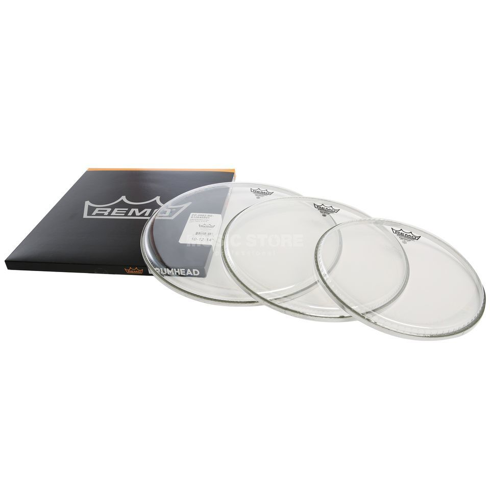 "Remo Drumhead Set Emperor, clear, Fusion: 10"",12"",14"" Produktbillede"