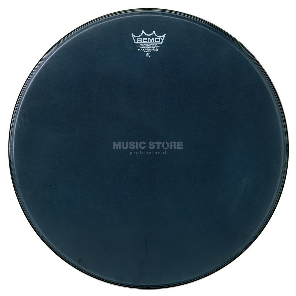 "Remo Powerstroke 3 Black Suede 20"", BassDrum Batter/Reso Product Image"