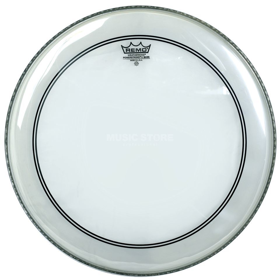 "Remo Powerstroke 3 Clear 20"", basDrum Batter/Reso Productafbeelding"
