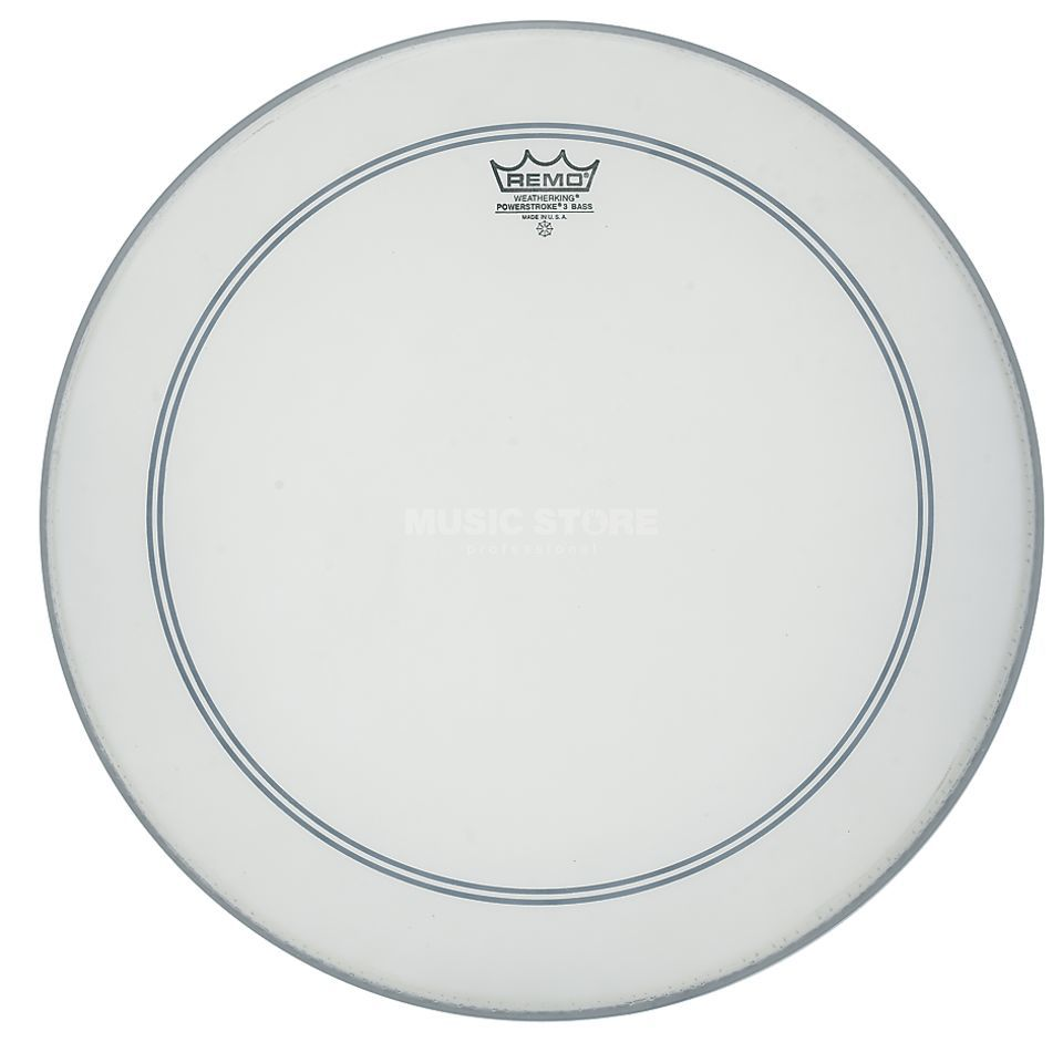 "Remo Powerstroke 3 Coated 20"", BassDrum Batter/Reso Product Image"