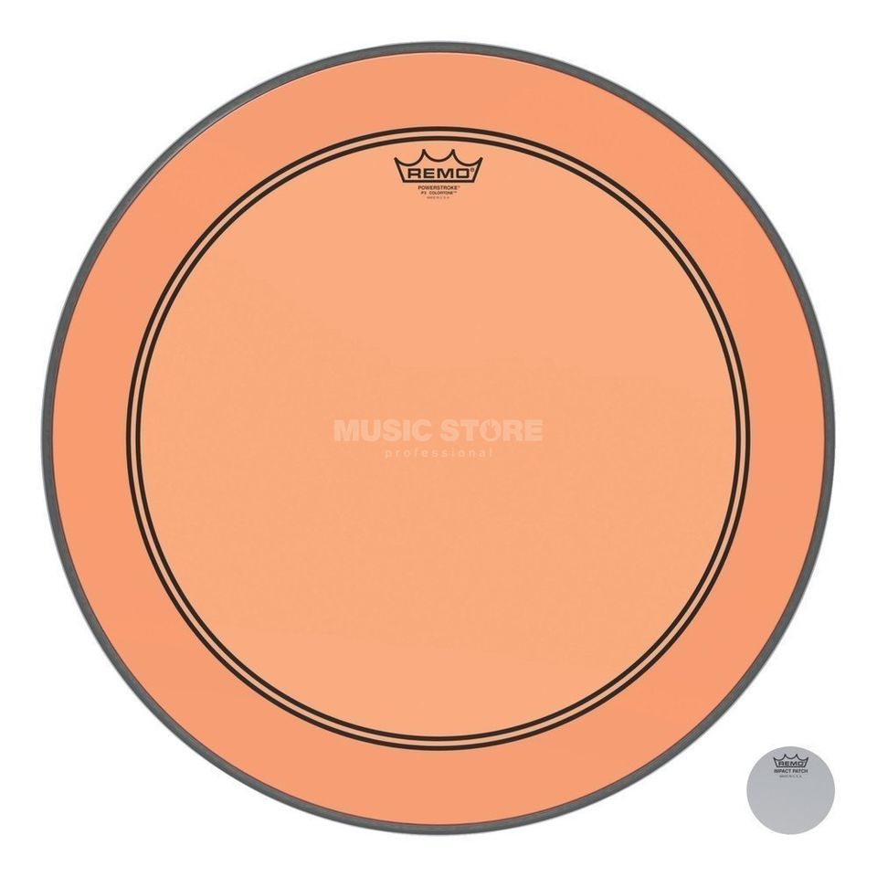 "Remo Powerstroke 3 Colortone 22"" Orange Product Image"