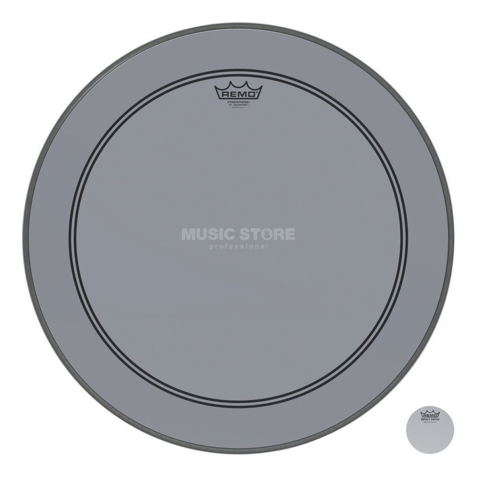 "Remo Powerstroke 3 Colortone 24"" Smoke Product Image"