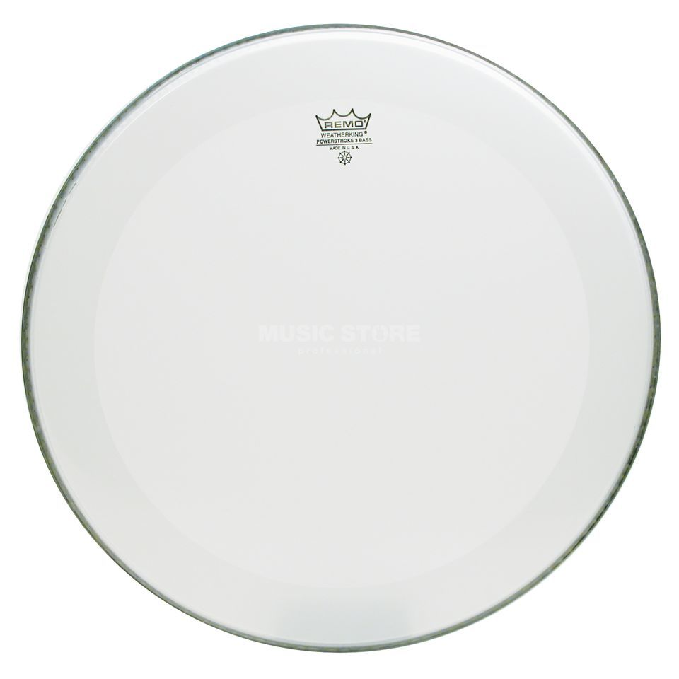 "Remo Powerstroke 3 Smooth White 22"" résonance/frappe grosse caisse Image du produit"